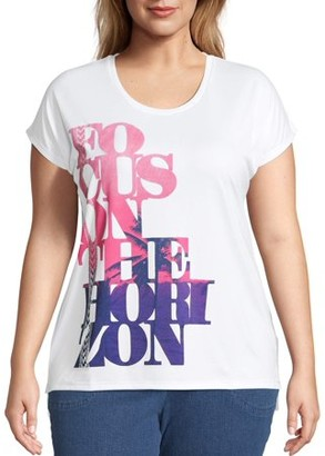Just My Size Women's Plus Active Short Sleeve Graphic Tee