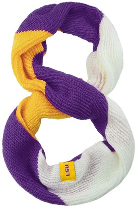 Women's LSU Tigers Color Block Knit Infinity Scarf