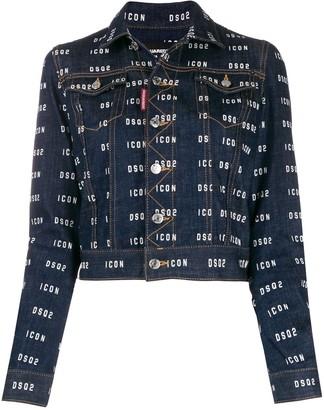 DSQUARED2 ICON DSQ2 logo denim jacket