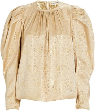 Ulla Johnson Ivy Gilded Balloon Sleeve Blouse