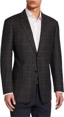 Emporio Armani Men's G-Line Windowpane Check Wool Sport Jacket