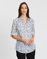 Sportscraft Lily Voile Brush Print Shirt