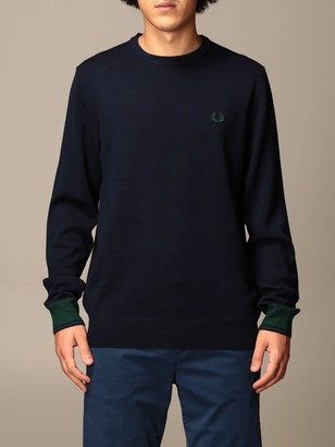 Fred Perry Crewneck Sweater In Wool