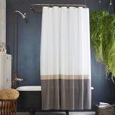 west elm Slate Horizon Stripe Shower Curtain