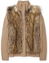 Michael Michael Kors Faux Fur Front Cardigan