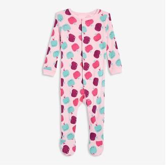 Joe Fresh Baby Girls' Footed Sleeper, Pastel Pink (Size 0-3)