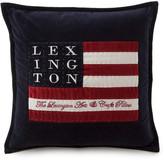 Lexington City Logo Arts & Crafts Cushion Cover - Blue - 50x50cm