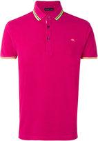 Etro neon trim polo shirt