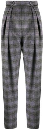 Alberta Ferretti Check Loose-Fit Trousers