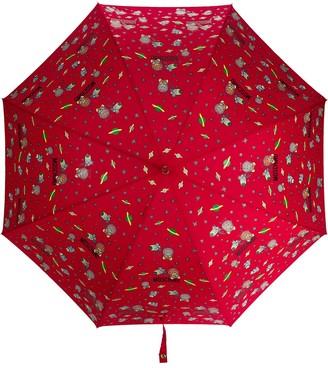Moschino Space-Themed Logo Print Umbrella
