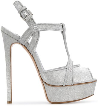 Casadei Sparkle Detail Wedge Sandals