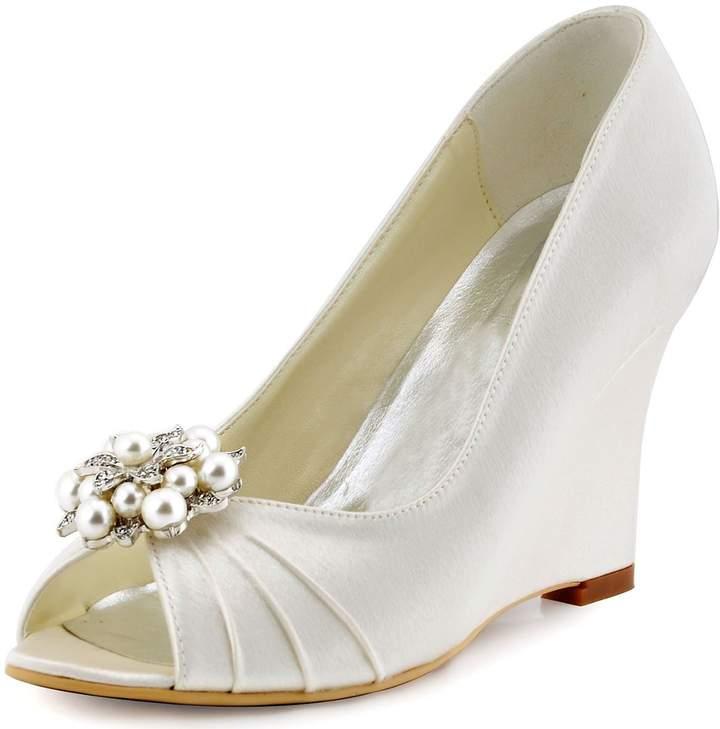 1b9dc40e37db Ivory Platform Wedding Shoes - ShopStyle Canada