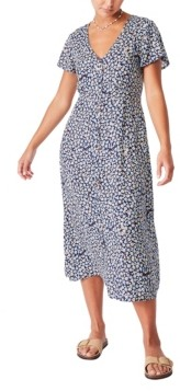Cotton On Women's Woven Cassie Shorts Sleeve Midi Dress