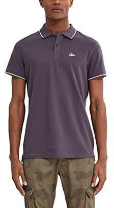 Esprit edc by Men's 047CC2K068 Polo Short Sleeve Polo Shirt - Grey - Medium
