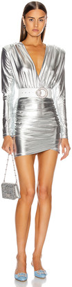 Andamane Colette Mini Dress in Silver Metallic | FWRD