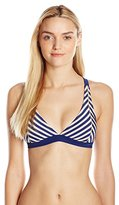 Jessica Simpson Women's Sweet Sailor Triangle Bikini Top