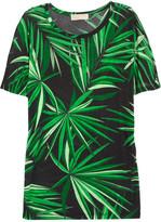 Palm-print jersey T-shirt