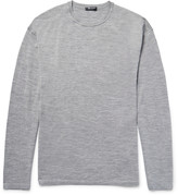 Alexander Wang - T By Alexander Wang Oversized Mélange Merino Wool Sweater