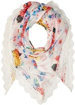 Betsey Johnson Gypsy Floral Triangle Scarves