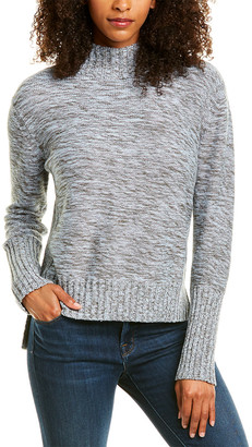 Forte Cashmere Marled High-Low Sweater