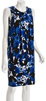 Essentials by A.B.S. royal floral jersey cowl back wrap dress