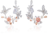 Anabela Chan Exclusive 18K White Gold Butterfly Garland Earrings