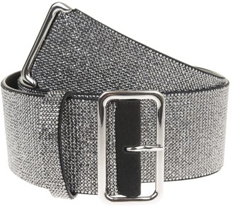 Ermanno Scervino Leather High Belt With Silver Crystals