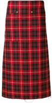 R 13 plaid straight skirt