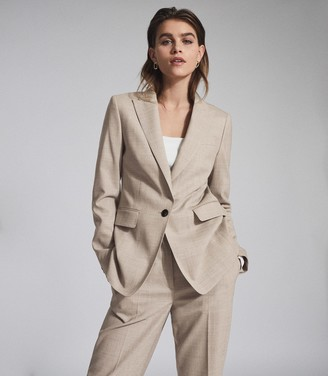 Reiss EMILY WOOL BLEND TAILORED BLAZER Oatmeal