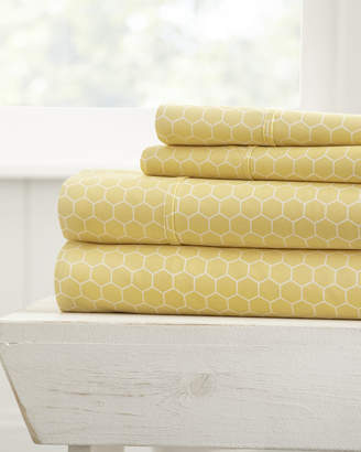IENJOY HOME Honeycomb 4-Piece King Bed Sheet Set