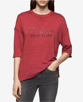 Calvin Klein Jeans Beaded-Logo T-Shirt