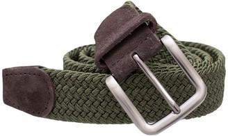 Tie Bar Braided Olive Belt