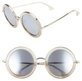 Alice + Olivia Women's Beverly 51Mm Round Sunglasses - Black
