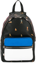 Alexander Wang pinup print backpack - men - Calf Leather/Polyamide/Calf Suede - One Size