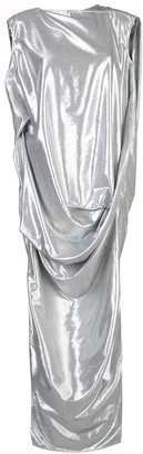 Rick Owens metallic effect draped dress