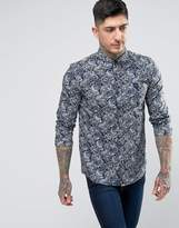 Pretty Green Lescott Paisley Shirt in Navy