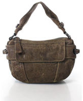 Kenneth Cole Brown Silver Tone Zip Up Small Shoulder Bag
