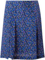 Cacharel pleat detail mini skirt - women - Silk - 38