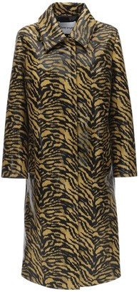 Stand Elyssa Printed Faux Leather Trench Coat