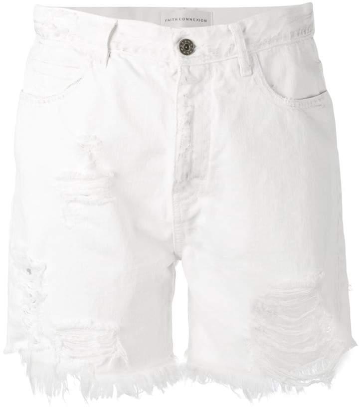 Faith Connexion frayed denim shorts