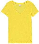 Des Petits Hauts Sale - Zephos V-Neck Linen T-Shirt