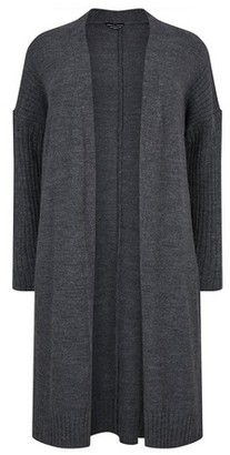 Dorothy Perkins Womens **Dp Curve Grey Long Cardigan, Grey
