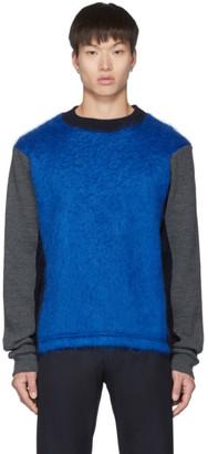 Daniel W. Fletcher Blue Mohair Electric Sweater