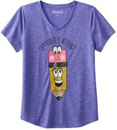 Mudd Girls 7-16 & Plus Size V-neck Graphic Tee