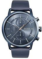 BOSS Architectural Chronograph Leather Strap Watch, 44mm