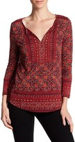 Lucky Brand Floral Woodblock Print Blouse
