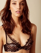 Agent Provocateur Carli Bra Black And Rose Gold
