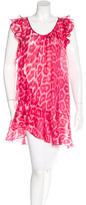Just Cavalli Silk Leopard Print Tunic