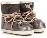 Inuikii Camouflage Low fur-lined suede boots