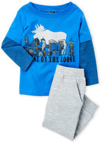 Charlie Rocket Newborn/Infant Boys) Two-Piece Moose Tee Set